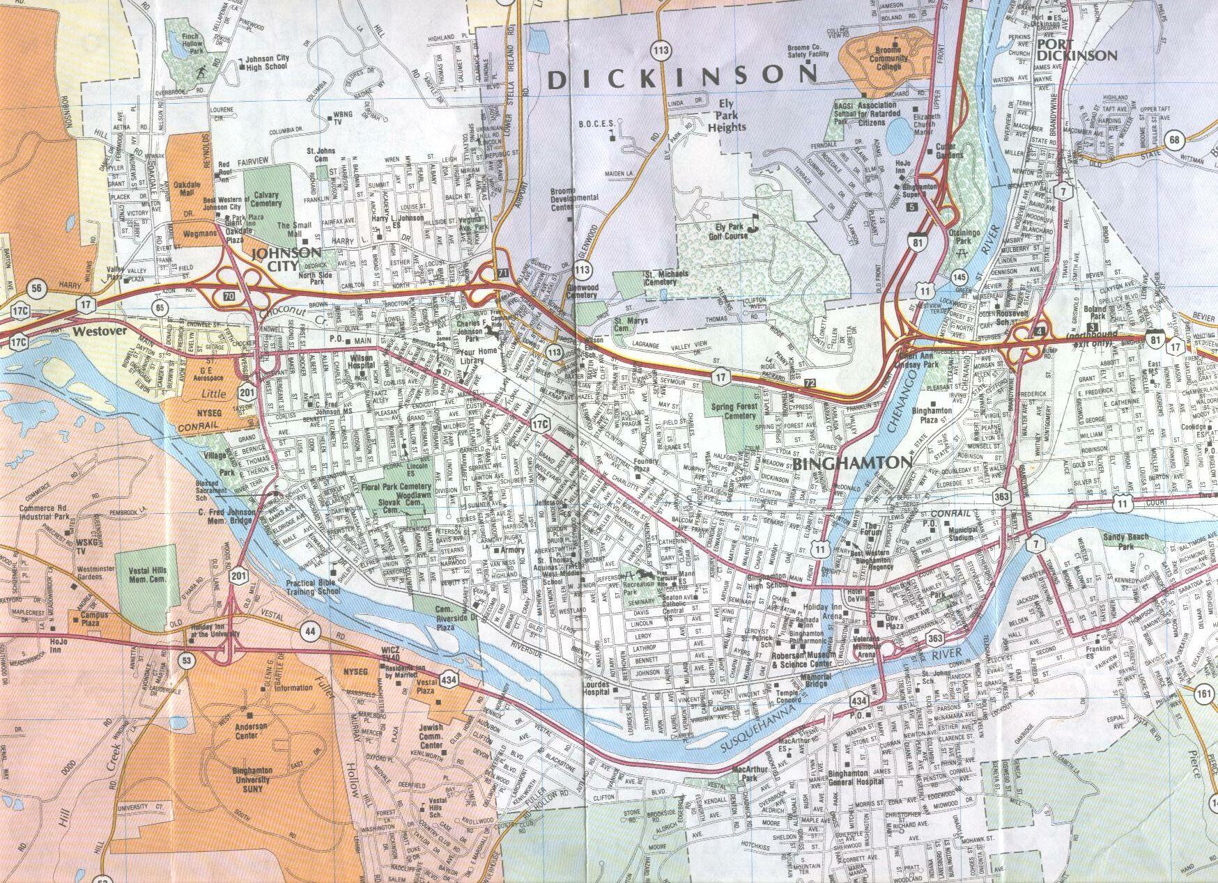 this is a binghamton map . math sciences binghamton university  directions